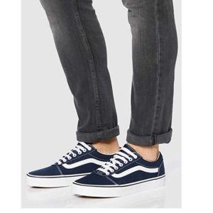 VANS Mens Sneakers Navy White Low Top Size 12